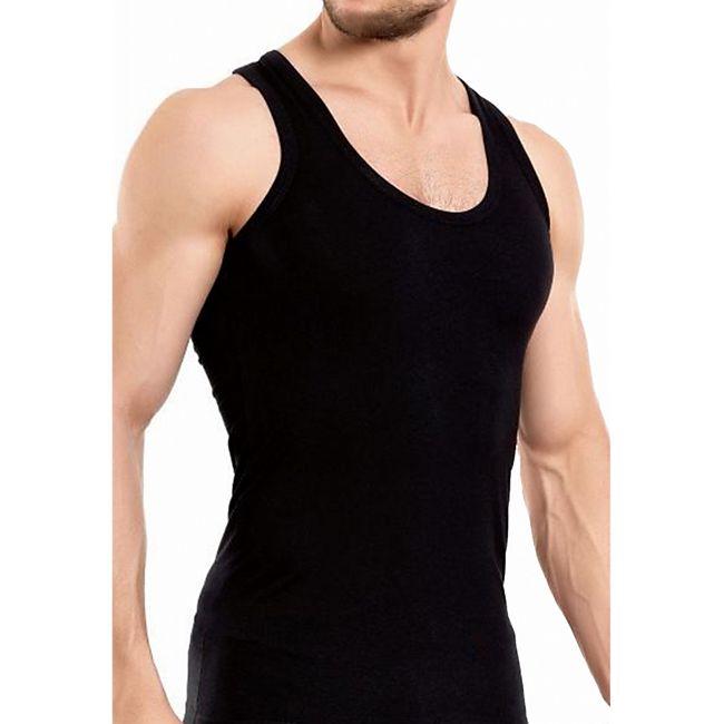 Garcia Pescara 4x Herren Feinripp Unterhemd schwarz, Größe S - Bild 1