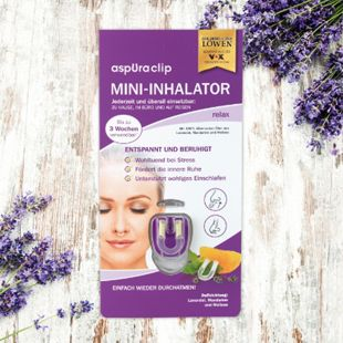 aspUraclip Mini-Inhalator relax 3er-Set - Bild 1