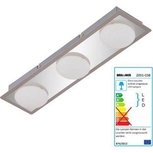 Briloner LED Deckenleuchte, Deckenlampe Badlampe, inkl. Leuchtmittel EEK A+ 13,5W 3-flammig - Bild 1