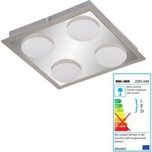 Briloner LED Deckenleuchte, Deckenlampe Badlampe, inkl. Leuchtmittel EEK A+ 18W 4-flammig - Bild 1
