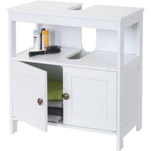 Waschbeckenunterschrank MCW-B63, Badschrank Badezimmer Unterschrank Waschtischunterschrank, 60x60x30cm weiß - Bild 1