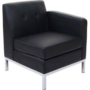 Sessel MCW-C19, Modular Seitenteil rechts mit Armlehne, erweiterbar Kunstleder ~ schwarz - Bild 1