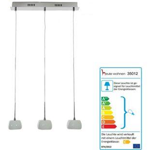 Deckenleuchte HW130, Pendelleuchte Hängeleuchte Deckenlampe, 3-flammig EEK C - Bild 1
