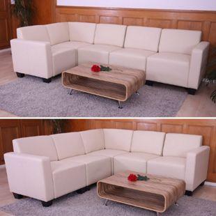 Couch-Garnitur Moncalieri 5 ~ creme - Bild 1