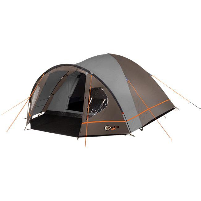 Portal Camping Zelt Zeta, 4 Personen Kuppelzelt - grau/orange - Bild 1