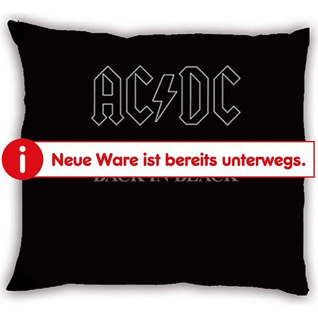 Rockband Dekokissen - AC/DC - Back in Black - Bild 1