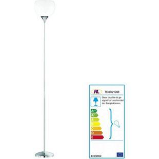Reality Stehlampe Pesaro mit Schirm weiß ~ chrom - Bild 1