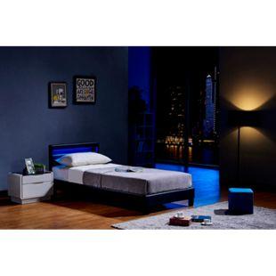 Home Deluxe LED Bett Astro 90x200, schwarz - Bild 1