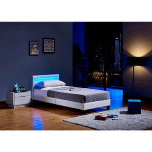Home Deluxe LED Bett Astro 90x200, weiß - Bild 1