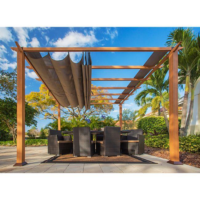 Paragon Outdoor Pergola Florida 350x350cm Hellbraun - Bild 1