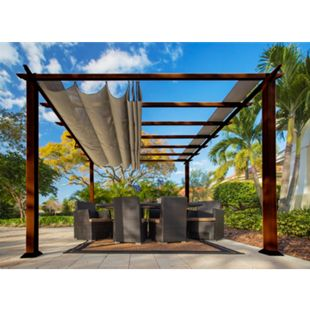 Paragon Outdoor Pergola Florida 350x350cm Dunkelbraun - Bild 1