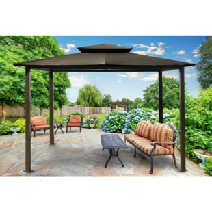 Paragon Outdoor Aluminium Pavillon Kingsbury 11x14 anthrazit 330x450 cm - Bild 1