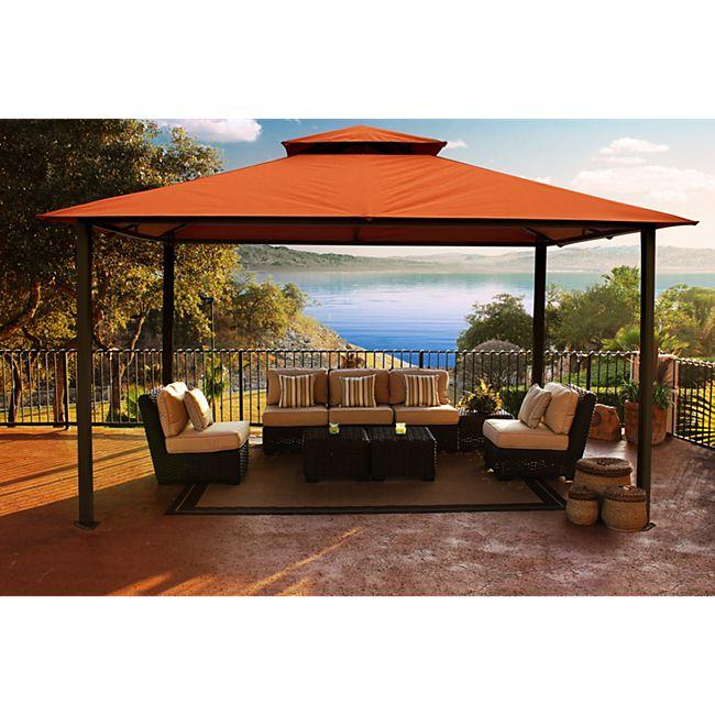 Paragon Outdoor Aluminium Pavillon Kingsbury 11x14 rost 330x450 cm - Bild 1