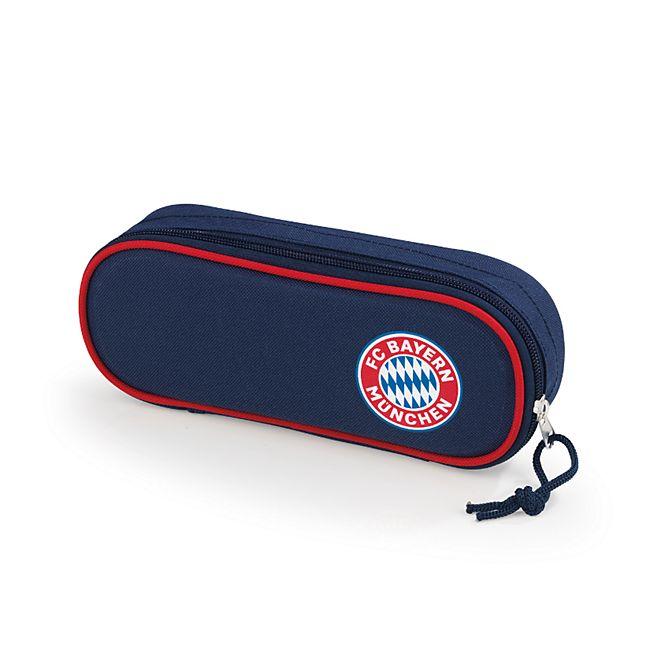 FCB Faulenzermäppchen Mia san Mia blau/rot mit Logo - Bild 1