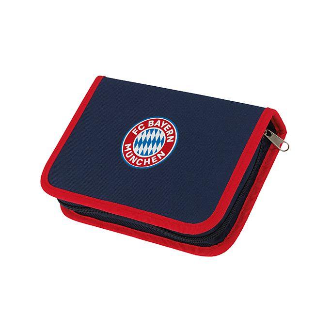 FCB Federtasche Mia san Mia blau/rot mit Logo inkl. Stifte - Bild 1