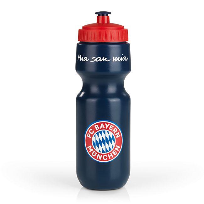 FCB Trinkflasche Mia san Mia 650ml blau/rot - Bild 1