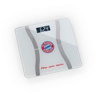 FCB Personen-Waage Körperanalyse Mia san Mia 3V weiß/silber mit Bluetooth & Logo - Bild 1