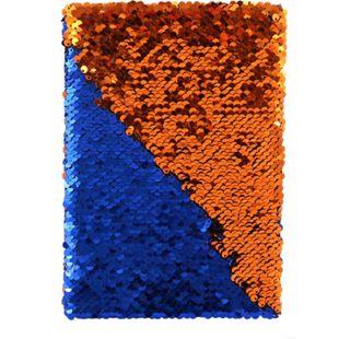 Wendepailletten-Notizbuch A5 blau/orange - Bild 1