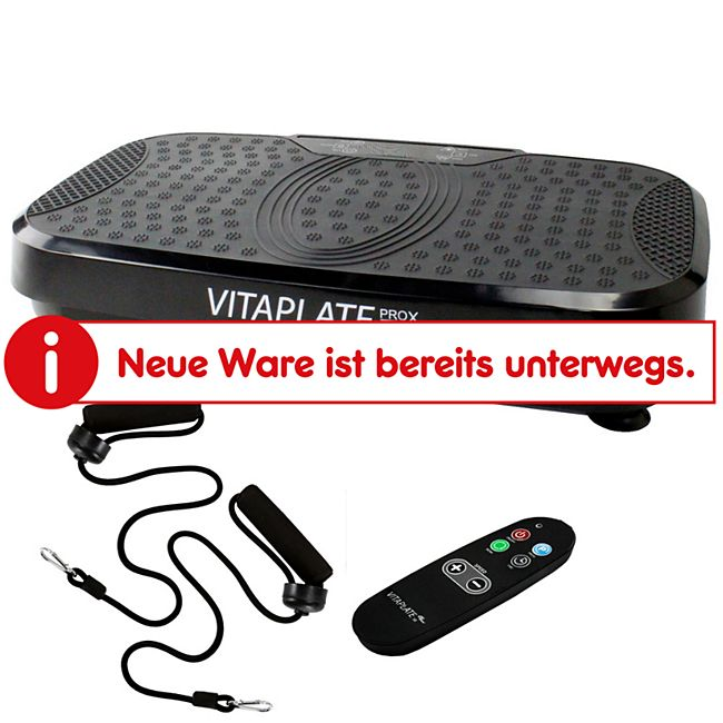 @tec Vitaplate ProX 300W Vibrationsplatte Vibrationstrainer in Schwarz mit Fernbedienung - Bild 1