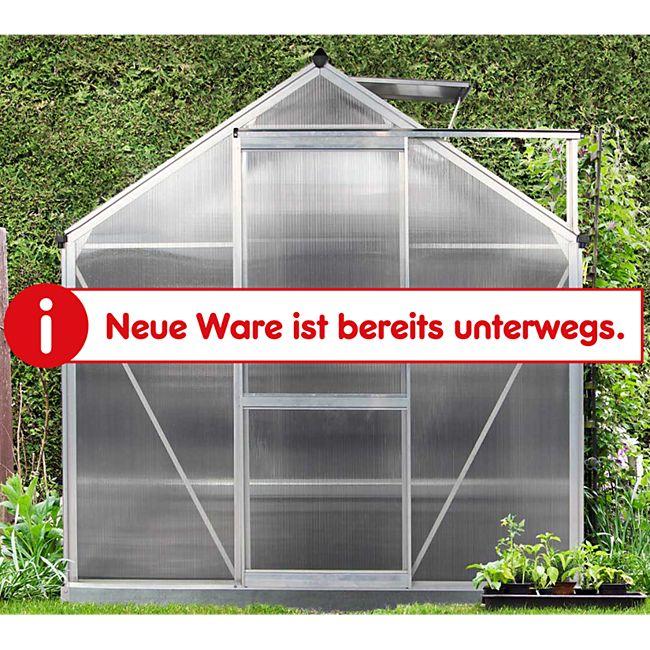 Westmann Gewächshaus 6x10 silber inkl. Fensteröffner und Fundament - Bild 1