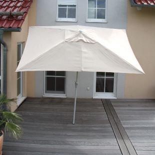 Sonnenschirm Castellammare, Gartenschirm, 2x3m rechteckig neigbar, Polyester/Alu 4,5kg ~ creme - Bild 1