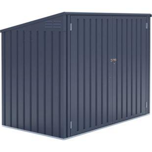 Metall Mülltonnenbox anthrazit, 172x100x131 cm - Bild 1