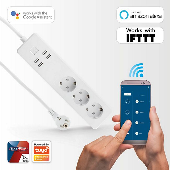 Caliber intelligenter 3-fach EU-Stecker HWP 301U, App-gesteuerter - Bild 1