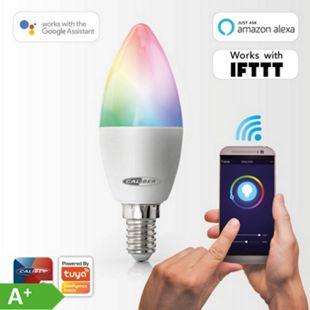 Caliber intelligentes E14 LED-Leuchtmittel in Warmweiß & Mehrfarbig, HWL1101, App-gesteuertes - Bild 1