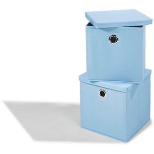 Dekor Aufbewahrungsboxen, 2er Set - blau - Bild 1