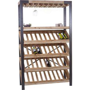 Weinregal MCW-D60, Flaschenregal Flaschenhalter Barschrank Weinständer für 40 Flaschen, Massivholz 189x114x39cm - Bild 1