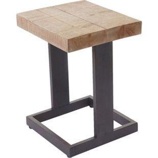 Sitzhocker MCW-A15, Hocker Fußhocker Holzhocker, Tanne Holz rustikal massiv 48x36x32cm - Bild 1
