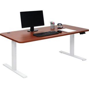 Schreibtisch MCW-D40, Bürotisch Computertisch, elektrisch höhenverstellbar Memory 160x80cm 53kg ~ natur, weiß - Bild 1