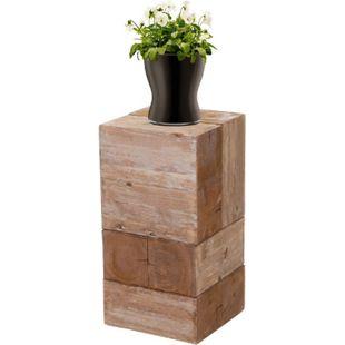 Blumentisch MCW-A15, Blumensäule Blumenständer, Tanne Holz rustikal massiv ~ 60cm - Bild 1