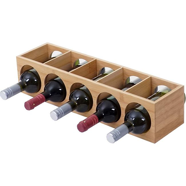 Weinregal MCW-B89, Flaschenständer Flaschenregal Weinflaschenständer, Bambus 53x14x13cm - Bild 1