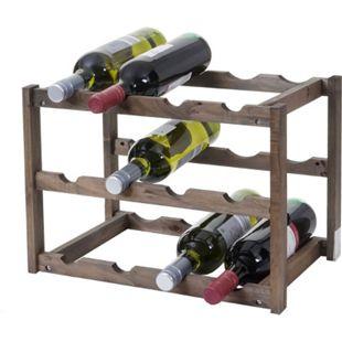 Weinregal MCW-B58, Flaschenregal Weinständer Weinhalter, Tanne 3 Böden ~ 1 Stück - Bild 1