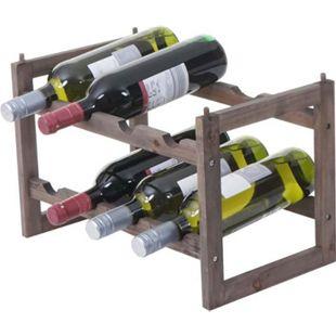 Weinregal MCW-B58, Flaschenregal Weinständer Weinhalter, Tanne 2 Böden ~ 1 Stück - Bild 1