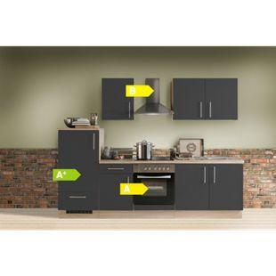 Menke Küchen Küchenzeile Premium 270 cm Lacklaminat Schiefer Matt - Bild 1