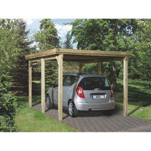 Weka Flachdach Einzelcarport 617 Gr. 1 ohne Dachplatten - Bild 1