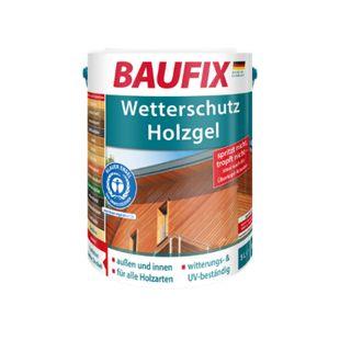 BAUFIX Wetterschutz-Holzgel anthrazitgrau 5 L - Bild 1