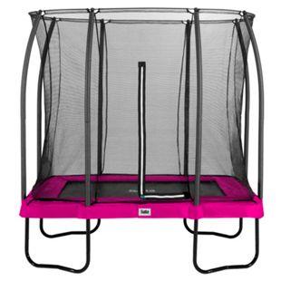 Salta Trampoline - Comfort Edition - rechteckig - 153 x 214cm - 5x7ft - Schutzrand pink - Bild 1