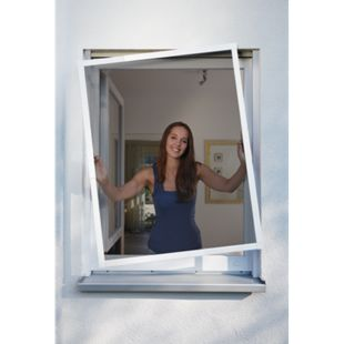 Schellenberg Telescope Insektenschutz-Fenster, weiß, 100 x 120 cm - Bild 1