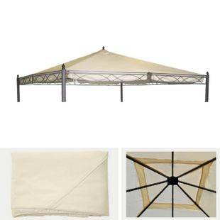 Ersatzdach für Pergola Calpe 4x4m, Dach Bezug Sonnenschutz ~ creme - Bild 1