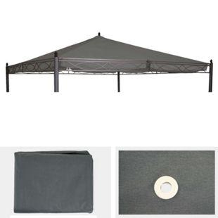 Ersatzbezug für Dach Pergola Pavillon Calpe 4x4m ~ grau - Bild 1