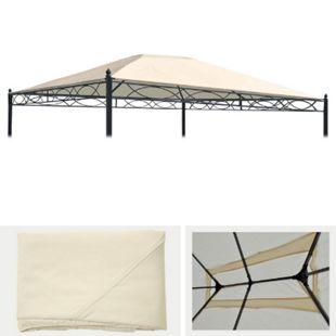 Ersatzbezug für Dach Pergola Pavillon Calpe 4x3m ~ creme - Bild 1