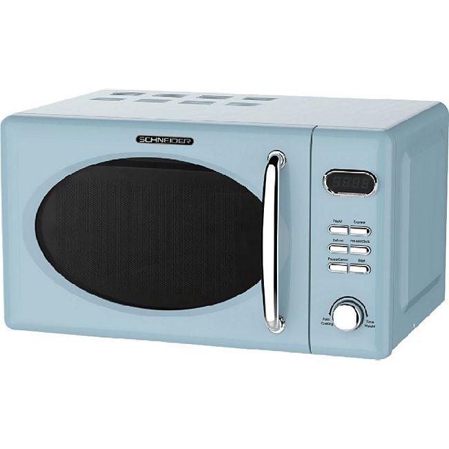 Schneider MW720 LB Retro Mikrowelle, blau - Bild 1