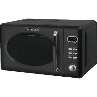 Schneider MW720 B Retro Mikrowelle, schwarz - Bild 1