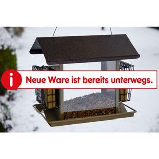 Dobar XXL-Futterspender für Vogelfutter und Energieblöcke, robuste Metall-Futterstelle für Wildvögel - Bild 1