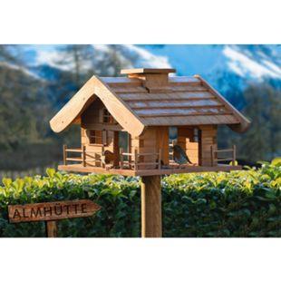 """Dobar Großes Vogelfutterhaus """"Almütte"""" mit Ständer, XXL-Vogelhaus - Bild 1"""