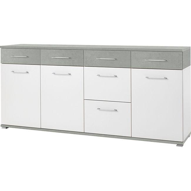 Germania 3779-531 Sideboard GW-Topix in Weiß/Beton-Optik, 192 x 87 x 40 cm (BxHxT) - Bild 1