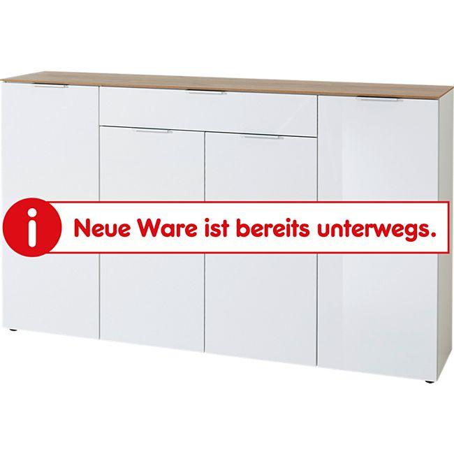 Germania Sideboard 3822-513 GW-Cetano in Weiß/Navarra-Eiche-Nb., Fronten in Hochglanz, 179 x 106 x 40 cm (B/H/T) - Bild 1